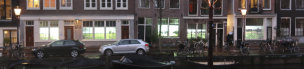 2018 - When The Cows Come Home - video installation on the windows of five Amsterdam canal houses - Jaap de Ruig